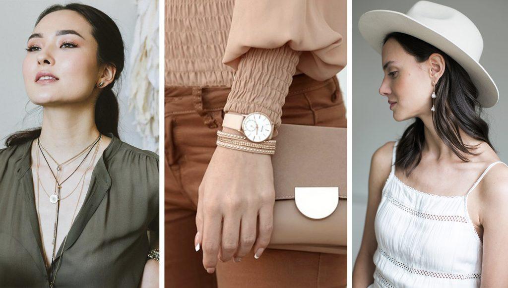 圖二:近年來飾品混搭佩戴蔚為主流